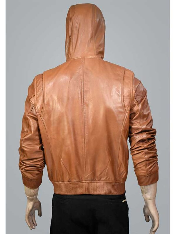 mens brown leather bomber jackets