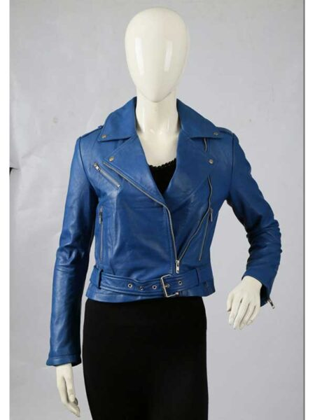 WOMEN`S LEATHER BIKER JACKET