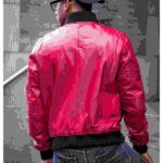 burgundy bomber jackets mens