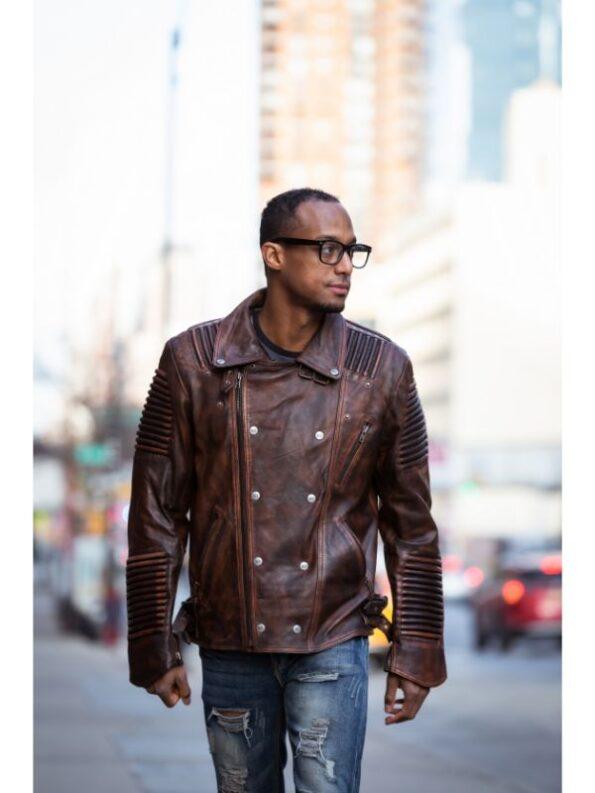 leather biker jackets mens