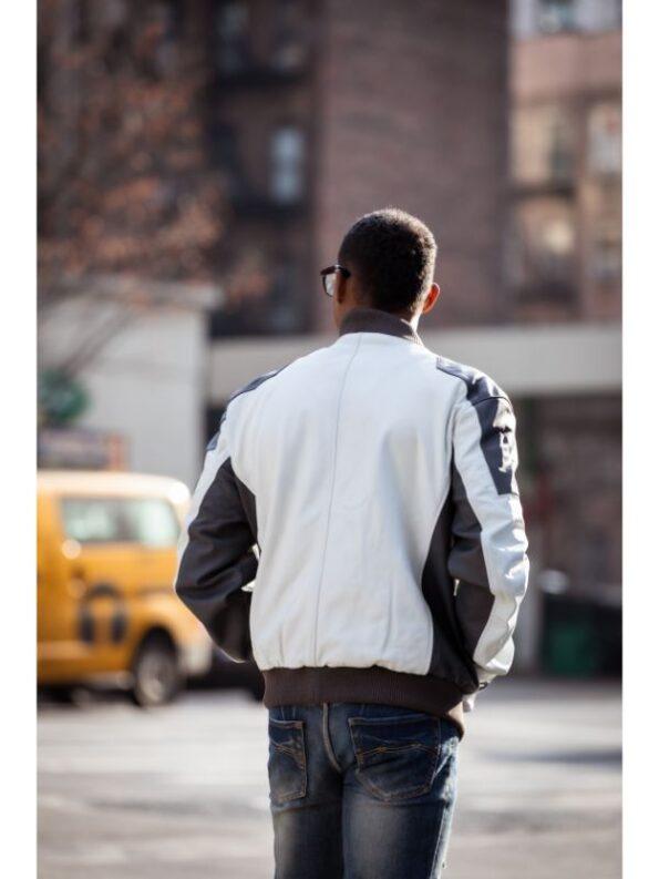 Leather Bomber jacket men