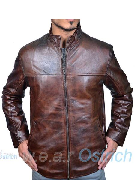 Mjulian Leather Jacket Brown Coat