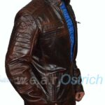 Mens Lamb Skin Brown Leather Jacket
