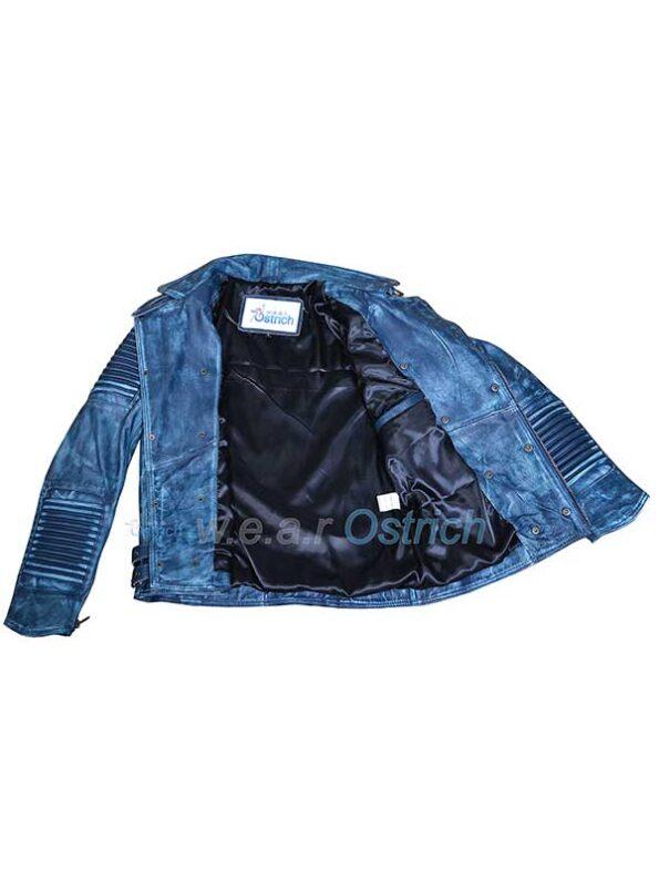 blue biker jackets