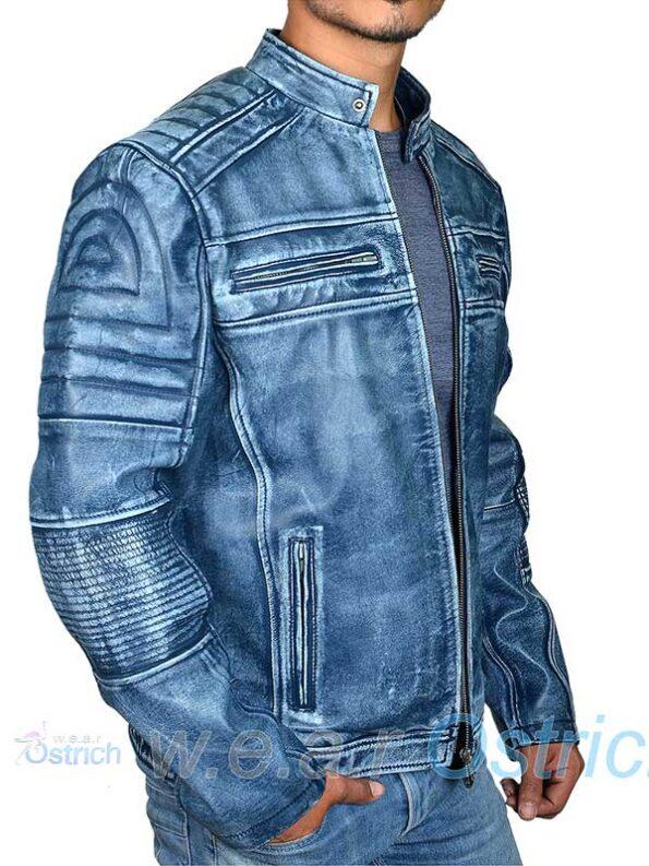 Blue Moto Jacket
