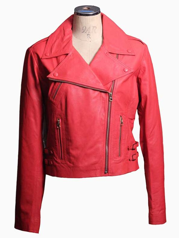 leather bikers jackets for women