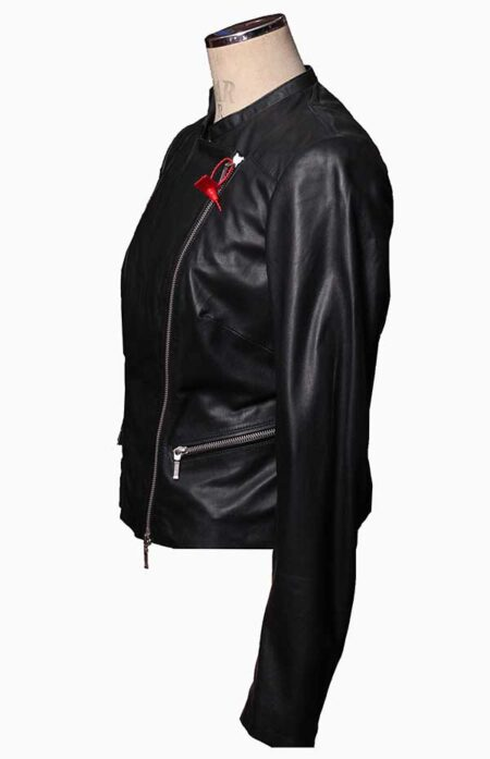 black motorcycle jacket womens