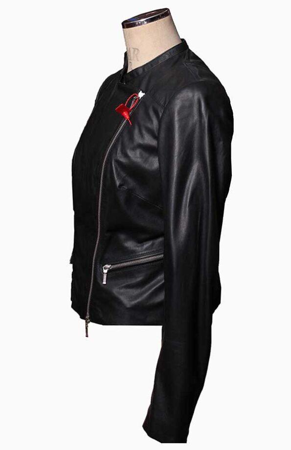 black motorcycle jacket womens