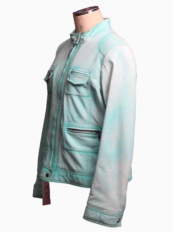blue bomber jacket women