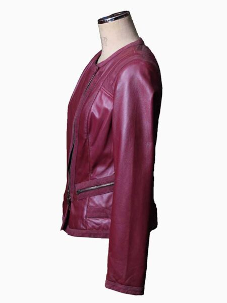 maroon bomber jacket womens