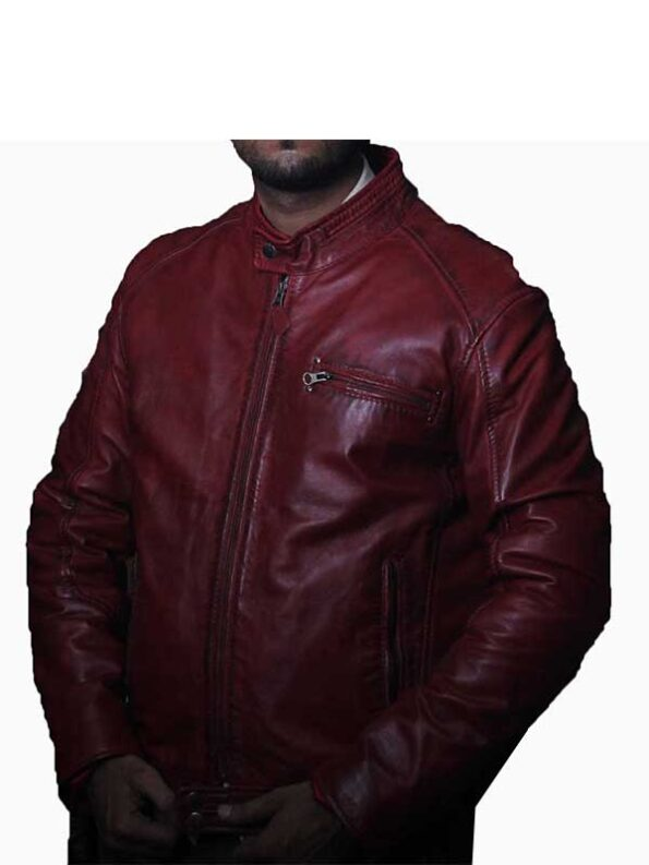 red biker jacket mens