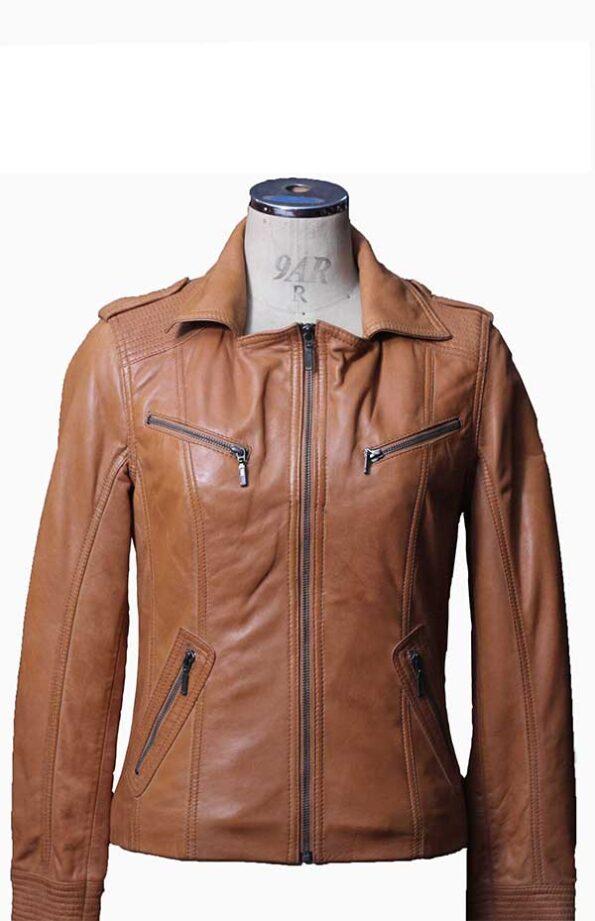 camel leather jacket womens