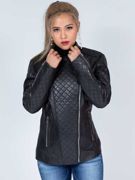 lambskin leather jacket womens