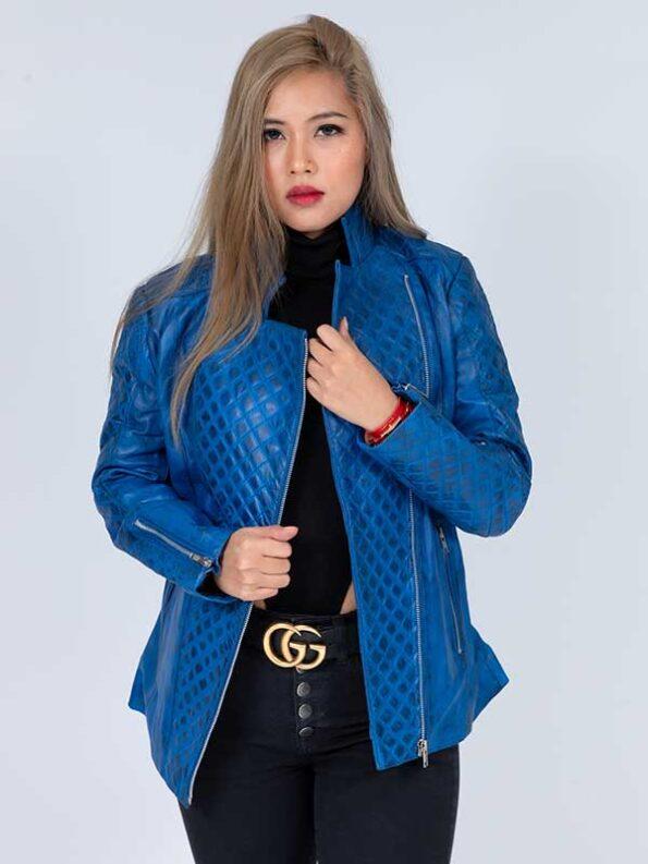 leather coat womens