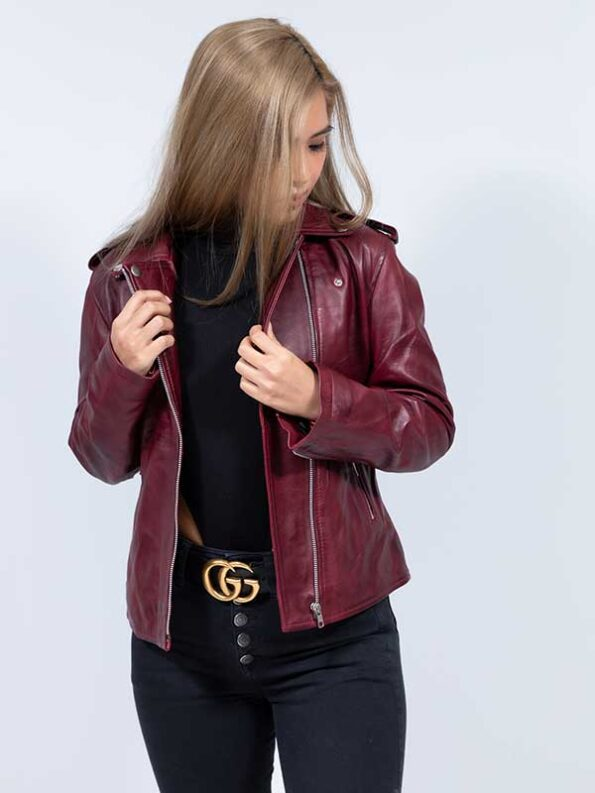 lucky brand leather jacket womens