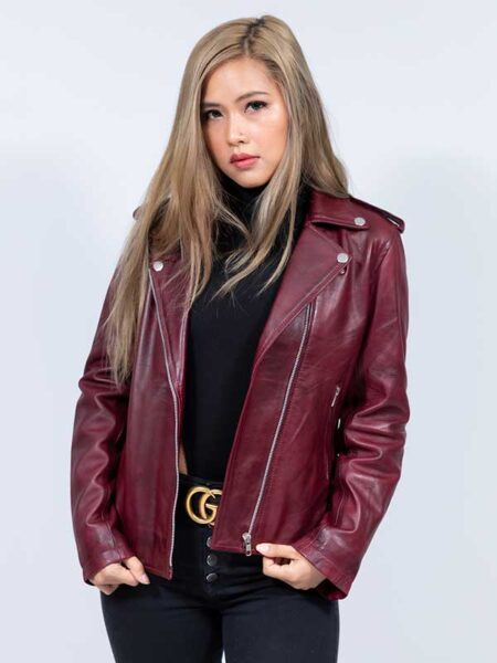 diesel leather jacket womens