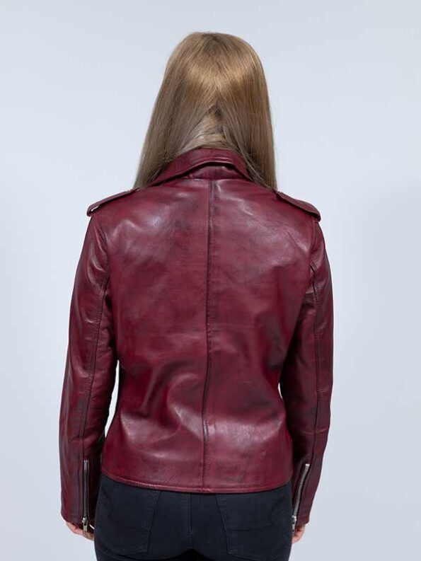 women burgundy blazer