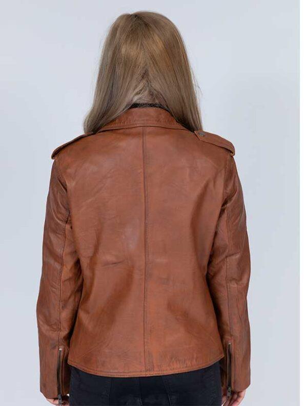 leather motorcycle jacket women